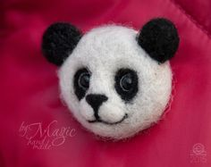 Hey, I found this really awesome Etsy listing at https://www.etsy.com/au/listing/230277525/felt-panda-brooch-felted-pin-needle