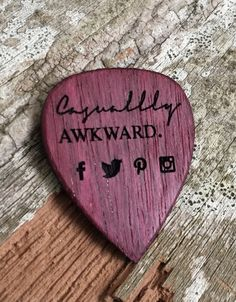 This is one of our custom guitar picks that we made for a blog. We can custom make a one of a kind premium guitar pick like this one for you or your business at laserpickusa.com We laser engrave all of our wooden picks to your exact requests. Revive a 10% off coupon on our entire site with code GRANDOPENING ends 06/6/2016.