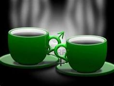 Green Cups With Hot Coffee Royalty Free Stock Photo, Pictures, Images ...