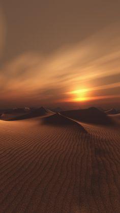 Sand, Desert, sunset, dunes, sunset, sky, 720x1280 wallpaper
