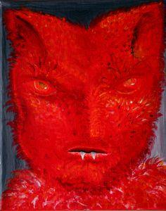 Red Guy   George Pearlman, Monster Series #monster #painting