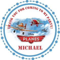 disney planes party favor ideas | Disney Planes Party - Circle Favor Stickers - You Choose Size on Etsy ...