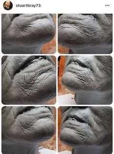 Sculpture Head, Sculptures, Pottery Painting Designs, Pottery Art, Old Age Makeup, Ceramic Sculpture Figurative, Sculpting Tutorials, Anatomy Art, Clay Art