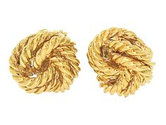 Tiffany & Co. Gold Knot Cufflinks in 18K from Beladora