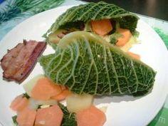 Potée aux choux façon chou farci / Mignardises et compagnie Facon, Cabbage, Menu, Vegetables, Kitchens, Menu Board Design, Cabbages, Vegetable Recipes, Brussels Sprouts