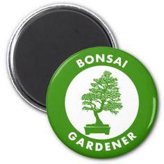 Bonsai Gardener Magnet -nature diy customize sprecial design