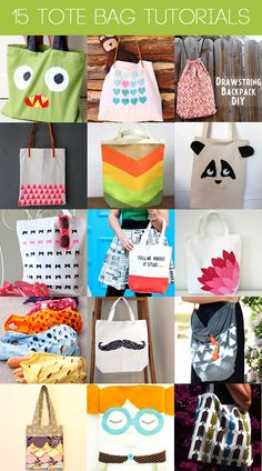 punk projects: Reusable Tote Bags