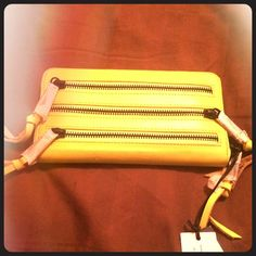NWT - 3 Zip Rebecca Minkoff Wallet in Acid Yellow ONE DAY SALE! NWT in gorgeous condition! Neon, neon, neon with black hematite hardware! ❤️ Rebecca Minkoff Bags Wallets