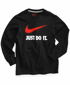 Nike Boys' Swoosh Long-Sleeved Tee - Kids - Macy's