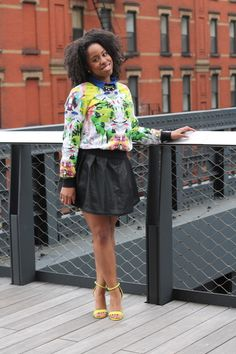 jessica-c-andrews-street-style-prabal-gurung-for-target-sweatshirt-first-date-print-urban-outfitters-leather-skirt-forever-21-cobalt-blouse-prabal-gurung-for-target-neon-sandals-sulfur-spring-4
