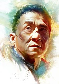 amazing fan art of Jackie Chan from Police Story 2013 Jackie Chan, Digital Portrait, Portrait Art, Digital Art, Police Story 2013, Watercolor Art Face, Celebrity Drawings, Martial Artists, Illusion Art