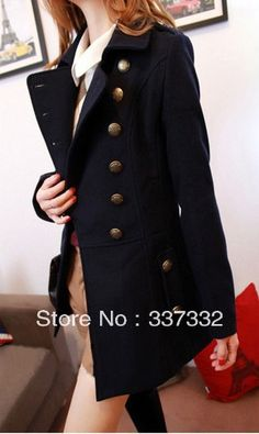 Free shipping Women's Double Breasted Trench Coatwool coat Outwear best selling uniform trench coat
