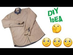 New idea from Shirt // Diy Idea // by Simple cutting Sewing Tutorials, Sewing Crafts, Sewing Patterns, Shirt Refashion, Diy Shirt, Sewing Clothes, Diy Clothes, Bandana Outfit, Old Shirts
