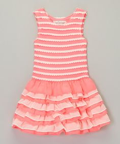 Loving this Pink Scallop Ruffle Dress - Infant, Toddler & Girls on #zulily! #zulilyfinds  ***********LOVE,LOVE,LOVE************