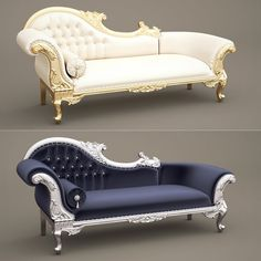F&B Wedding Chaise Longue_A (Queen Anne's Revenge Chaise) Model available on Turbo Squid, the world's leading provider of digital models for visualization, films, television, and games. King Furniture, Royal Furniture, Classic Furniture, Luxury Furniture, Victorian Furniture, Sofa Bed Design, Living Room Sofa Design, Bedroom Furniture Design, Modern Sofa Designs
