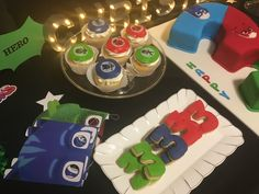 Pj masks birthday party cake table