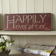 Happily Ever After Plaque £14.95