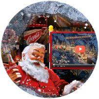 Coke soooo Christmassy Coke Santa, Coca Cola Santa, Coca Cola Christmas, Coca Cola Ad, Christmas Truck, Christmas Projects, Holiday Crafts, Coca Cola Poster, Santa Pictures