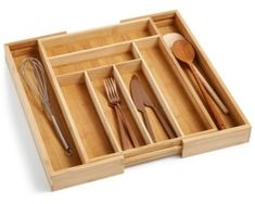 Martha Stewart Collection Expandable In-Drawer Utensil Tray, Created for Macy's