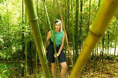 Bamboo time - Shooting with model Angie Hasa at Jardin Palacio de Pedralbes, Barcelona, Catalunya, Spain