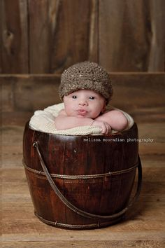 Dapper baby boy visor hat for newborn photos  custom by hugaroos, $16.00