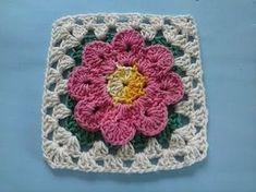 Crochet Edging Patterns, Crochet Blocks, Granny Square Crochet Pattern, Crochet Squares, Crochet Granny, Crochet Motif, Crochet Doilies, Crochet Flowers, Granny Squares