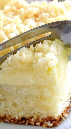 Lemon Cream Cheese Coffee Cake ~ It's Extra Lemony, with a Creamy Filling and a Crumbly Topping... Light, Refreshing, and Delicious.