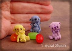 Broken link ... just adorable . Tiny amigurumi bears
