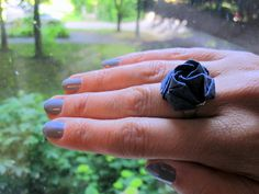 Attractive Origami Ring made out of washi paper. Eye catching, original and affordable. Cute present.
