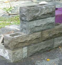 Historic Rock Fack Block - Home Interlocking Concrete Blocks, Concrete Building Blocks, Decorative Concrete Blocks, Masonry Blocks, Concrete Bricks, Concrete Houses, Concrete Crafts, Stone Front House, Black And White Flooring