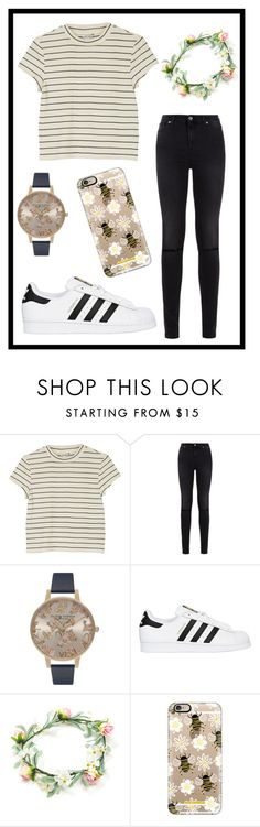 """""""#354 sweet"""" by xjet1998x ❤ liked on Polyvore featuring Monki, 7 For All Mankind, Olivia Burton, adidas Originals and Casetify"""
