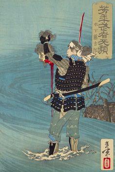 [フリー絵画素材] 月岡芳年 - 芳年武者无類 木下藤吉郎 (1883) ID:201403092100