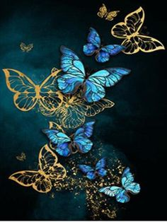 5D DIY Diamond Painting Butterfly Animals Cross Stitch Kit Full Drill Embroidery Mosaic Art Picture of Rhinestones Home Decor - 710 / Square Drill 30x40cm / China