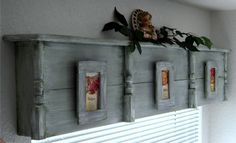 Wood Valance Boxes Wooden cornice with picture frames Wood Valence, Wooden Window Valance, Wooden Cornice, Window Cornices, Window Coverings, Window Treatments, Wood Blinds, Picture Frame Headboard, Picture Frame Display