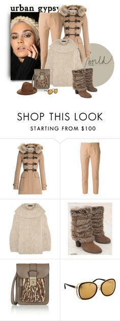 """Furry Love"" by michelletheaflack ❤ liked on Polyvore featuring Nexus, Burberry, Chloé, The Row, Naughty Monkey, Valentino, Linda Farrow, rag & bone and winterboots"