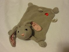 HTF Apple Park Gray Bunny Rabbit Blankie Lovey nunu Baby Security Blanket #ApplePark