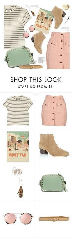 """seattle summer travel outfit"" by jesuisunlapin ❤ liked on Polyvore featuring Monki, MINKPINK, Herb Lester, Valentino, Tiffany & Co. and Miu Miu"