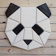 Check out our panda shop, full of panda products and gifts from trusted retailers all over the web. Panda hats, panda toys, panda jewelry and much more! Woodworking Jigs, Woodworking Projects, Polygon Art, Wood Animal, Panda Gifts, Paper Stars, Animal Heads, Wooden Walls, Wood Wall Art