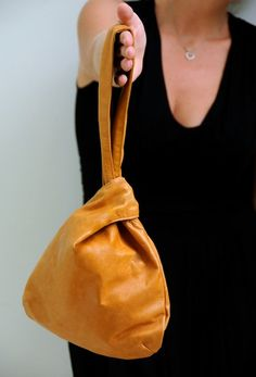 POUCH. Leather wristlet / pouch / small bag. Available in different leather colors.. $100.00, via Etsy.