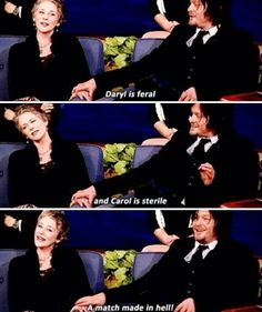 Melissa McBride and Norman Reedus are such lovable dorks <3