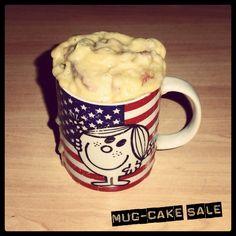 Mug-cake salé lardons/comté: miam miam!