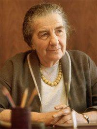 Primera ministra israelí, Golda Meir (1898-1978). Fue la primera mujer en ocupar la presidencia del joven estado de Israel. Mujer luchadora y tenaz, trabajó toda su vida por la defensa de su pueblo y la creación de un estado judío.