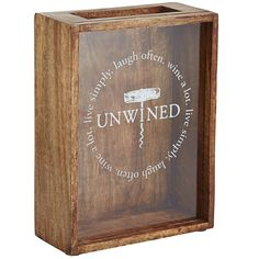 Shadow Box Wine Cork Holder Brown