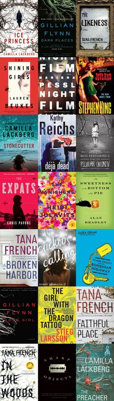 I've already got 5 down; only 16 to go! My favorite modern murder mysteries, crime dramas, and psychological thrillers!