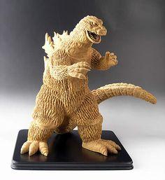 木彫りのゴジラ Godzilla Suit, Godzilla Tattoo, Godzilla Toys, Wood Sculpture, Sculptures, Horror Monsters, Science Fiction Art, Figure Model, Statues