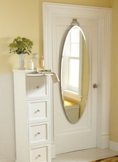 This mirror is the fairest of them all with a beautiful, frameless design that offers the utility of a full-length mirror, without drilling damaging holes into the walls or door.