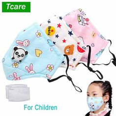 Reusable Pure Cotton Children Mouth Mask Respiratory Valve Cartoon Panda Thicken Smog Mask Warm Dust Mask Fits Years Old Kids Cartoon Panda, Bear Design, Child Face, Mouth Mask, Air Pollution, Aliexpress, Our Kids, 15 Years, 10 Years