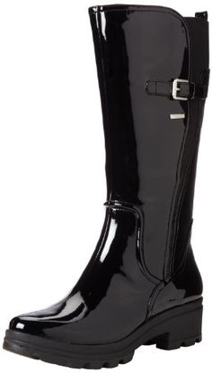 Rockport Womens Lorraine II Lite Rain BootBlack Patent65 M US >>> Want additional info? Click on the image.