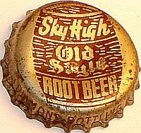Sky High Old Style Root Beer, bottle cap | Diamond Bottling Works, Milwaukee, Wisconsin USA | One sold on e-Bay 6/2012 for $41.55.