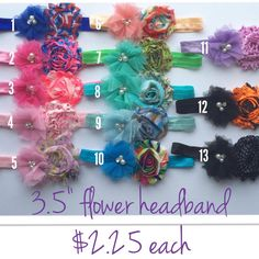 You pick 5 five 2.5 headband girl headband girl by BowsforLittle